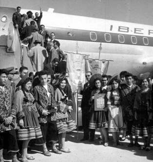Primer vuelo de Iberia a Lima, en 1963