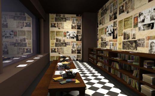 Interior de la redacción Sala-gabo