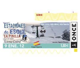 Cupón dedicado a la estación de esquí de La Pinilla