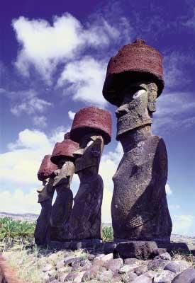 Moais-Isla-de-Pascua
