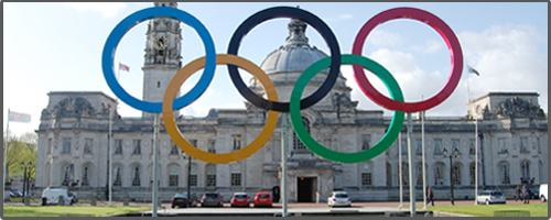 Cardiff gets ready for the Olympics