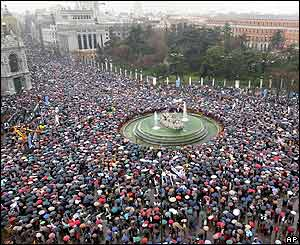 Manifestación masiva en Madrid