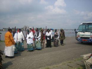 ceremonia comite Ngondo en Douala.