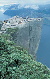 """Prekestolen"" (Pulpit rock) in Lysefjorden"